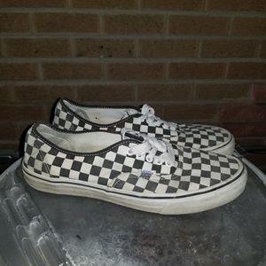 Checkered Van's authentic shoes sz 10.5